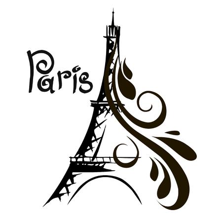 Hand drawn Eiffel Tower. Paris, vector illustration 版權商用圖片 - 74783961
