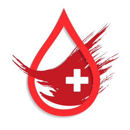 Faire un don de sang déposer signe avec croix.