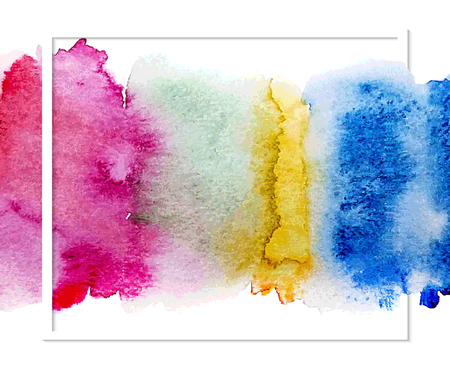Abstract Background with Watercolor Stains, Vector Design