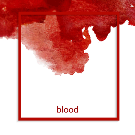 Bloodstains isolated on a white background. Vector design elements