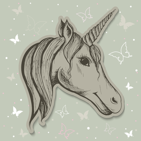 sumptuous: Romantic and elegant unicorn Illustration