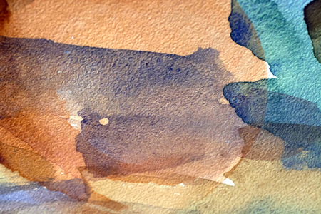 horizontal brown watercolor background