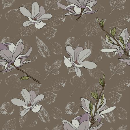 Beautiful seamless floral pattern background. Illusztráció