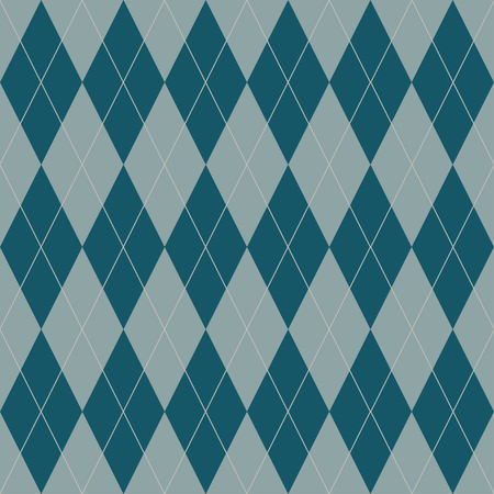 Seamless argyle pattern. Traditional diamond check print