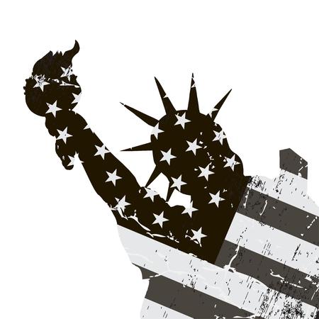 Statue of Liberty. USA, symbol of New York City Illusztráció
