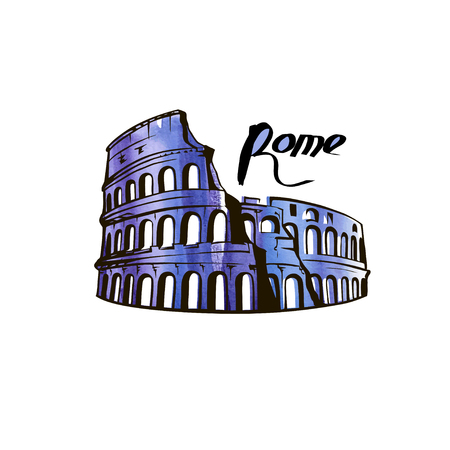 Colosseum In Rome Italy illustration 일러스트