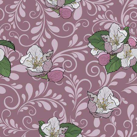 Floral seamless pattern. Flowers illustration