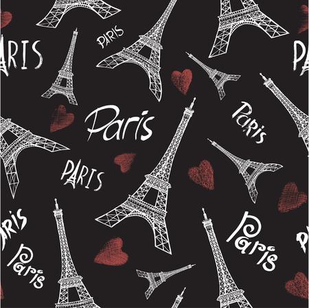 Paris Tower Seamless Pattern
