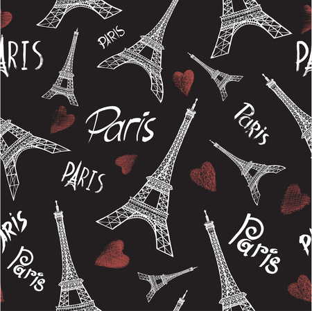 Paris Tower Seamless Pattern