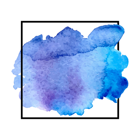 Abstract isolated colorful vector watercolor splash. Grunge element for paper design. Vector illustration Illusztráció