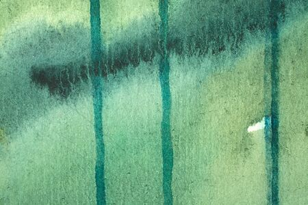 great green watercolor background - paints on a rough texture paper