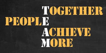Team work success banner