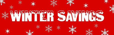 Christmas winter sale deals web banner snow