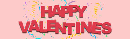 happy valentines day love in february web banner