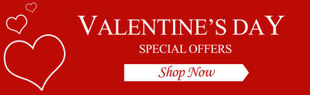 happy valentines day web banner february