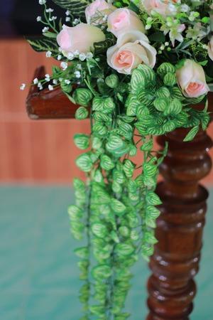 plastic flowers Imagens