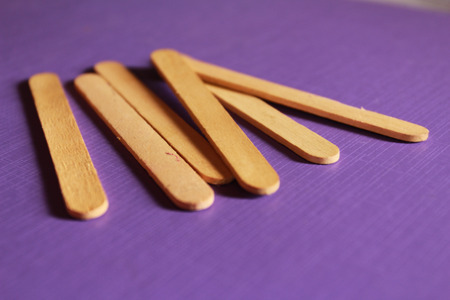 There are the ice cream sticks  It made from bamboo