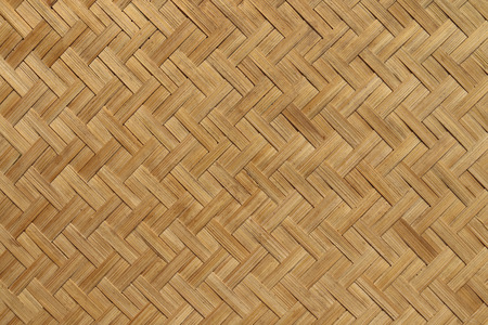 The basketwork in twill weave pattern made from bamboo.