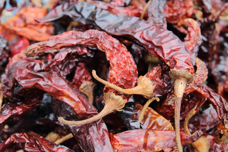 image of red dried chilies,food preservation from sunlight.