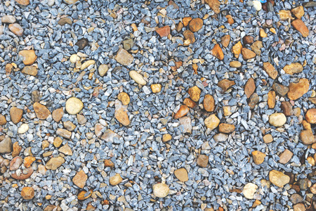 crush on: pebble and crush stone on the garden ground