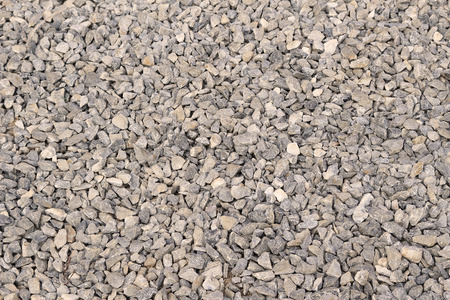 crush on: the ground decorative by crush stone for walking