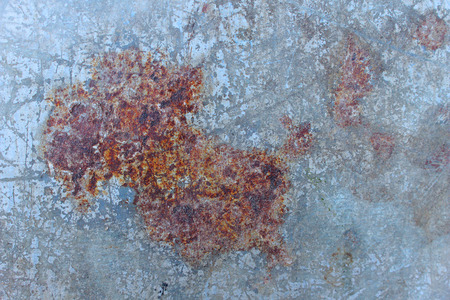 image of rust on the steel plate