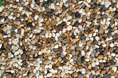 surface of pebble use for decoration the aquarium photo