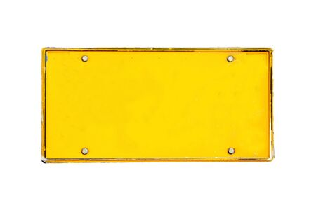 blank license plate  ,isolated white background and saved clipping path