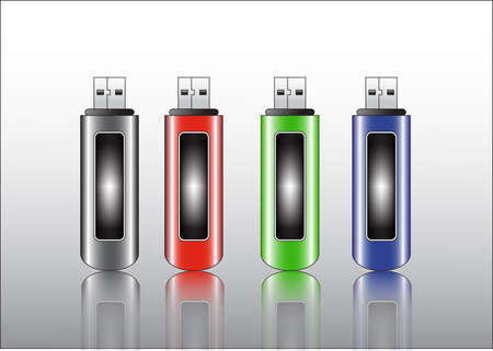 kilobyte: usb flash storage drive