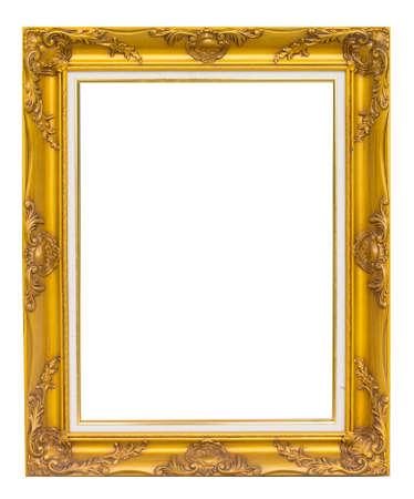 antique golden frame isolated on white background Standard-Bild