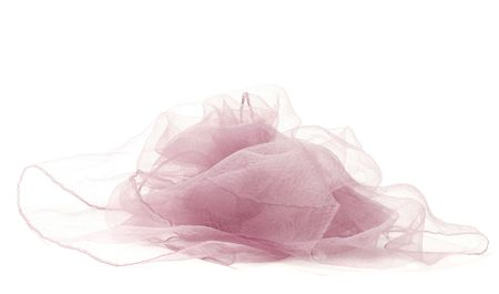 feathery:   Feathery pink kerchief over white background. Fashion accessory Stock Photo