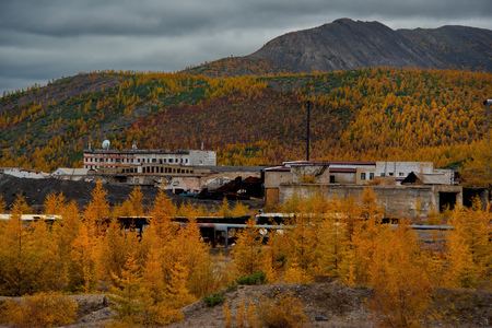Russia. Far East, Magadan region. Abandoned villages along Federal highway M56 Stock Photo