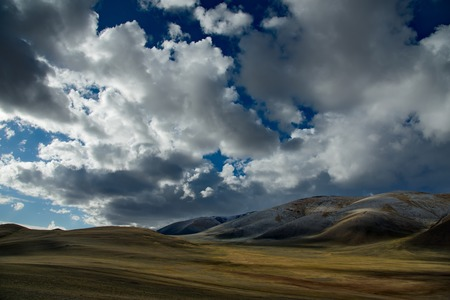 The Mongolian steppes