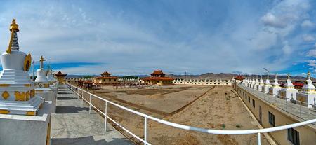 Western Mongolia. Buddhist monastery Gandantegchilen in Hovd.