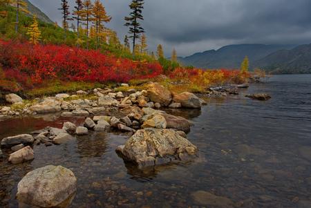 Russia. Magadan. The Far East. The lake maxi
