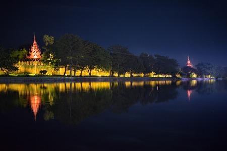 Myanmar. Mandalay City. Walls of the royal palace 스톡 콘텐츠
