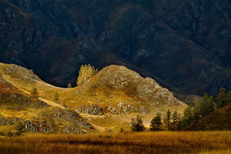 Russia. The South Of Western Siberia. Early autumn in the Altai mountains