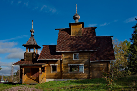 Russia. Karelia. Orthodox Church of the Ladoga Stock Photo