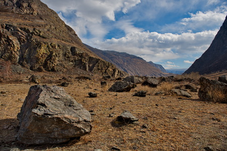 Russia. Lifeless spring in the altai mountains
