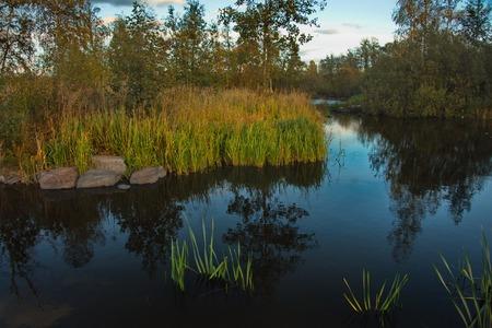 Russia. republic of karelia. Backwaters of the Vuoksa River;