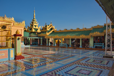 Myanmar. The Ponya Shin Pagoda is located on the Irrawaddy River.