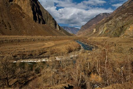 Russia. mountain Altai. The Valley of the Chulyshman River in Balykcha.