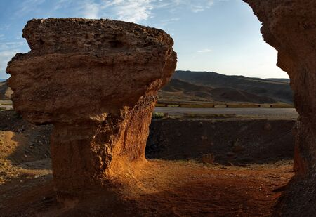 South-East Kazakhstan. Picturesque mountains in the area of the natural national Park Charyn canyon.