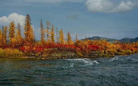 Russia, Far East, the Cold river to Magadan.