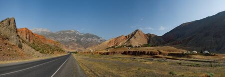 Kyrgyzstan. The Eastern section of the Pamir highway near the border with Tajikistan.