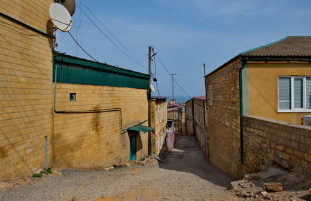Russia. Dagestan. The Old Town area at the foot of the ancient Naryn-Kala fortress in Derbent.