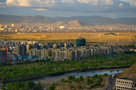 Ulaanbaatar. Mongolia. June 08, 2015. Video of the capital of Mongolia from the observation deck of the Memorial to Soviet soldiers on Zaisan Hill, who died near the Khalkhin-Gol River in 1939.
