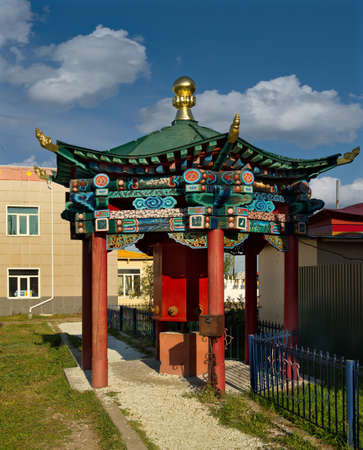 Ulan-Ude. Russia. August 28, 2021. The architecture of the Ivolginsky datsan, which houses the incorruptible body of Hambo Lama Itigelov, who has been in a state of meditation since 1927. Sajtókép