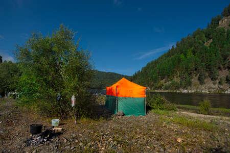 Russia. Chita region. A ready-made hiking bath