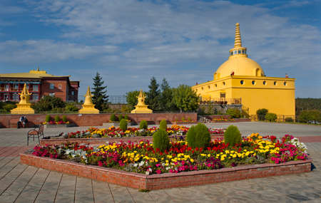 Ulan-Ude. Russia. August 28, 2021. The architecture of the Buddhist Datsan